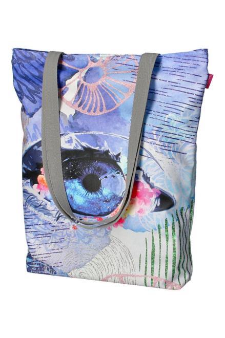 BERTONI  torba płócienna z nadrukiem M83607 Сумочка Multikolor оптом