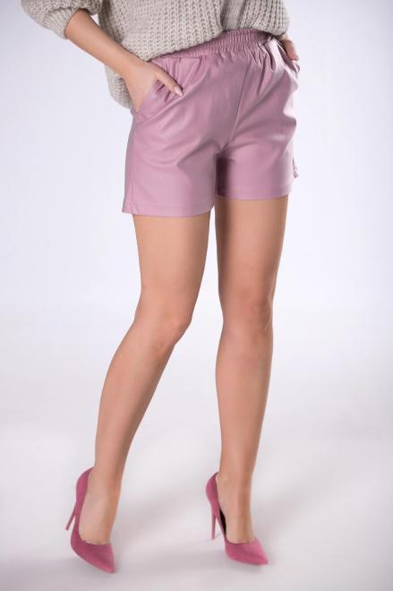 Bien Fashion  szorty z imitacji skóry M83548 Брюки Фиолетовый оптом