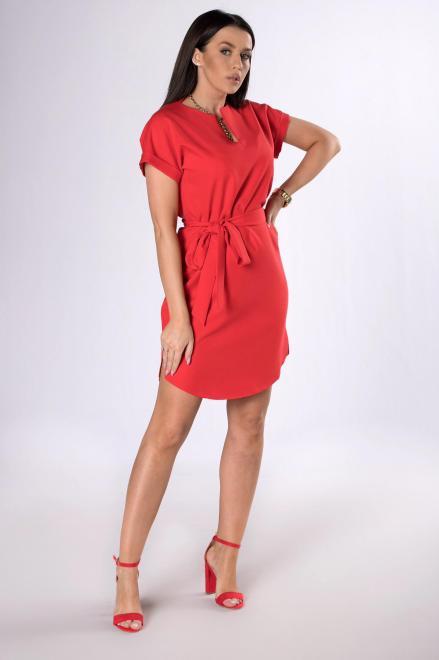 BODOO  sukienka z wiązaniem M83569 Платье Красный оптом