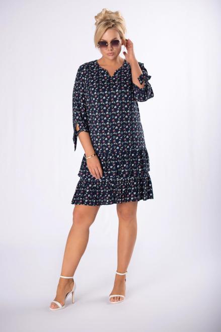BOG-MAR  sukienka z printem M83562 Платье Темносиний оптом