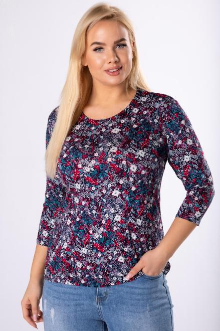 AGA  wzorzysta bluzka z rękawem 3/4 M83576 Блузка Multikolor оптом