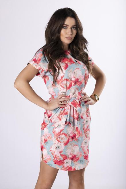 BODOO  wzorzysta sukienka z wiązaniem M83570 Платье Multikolor оптом
