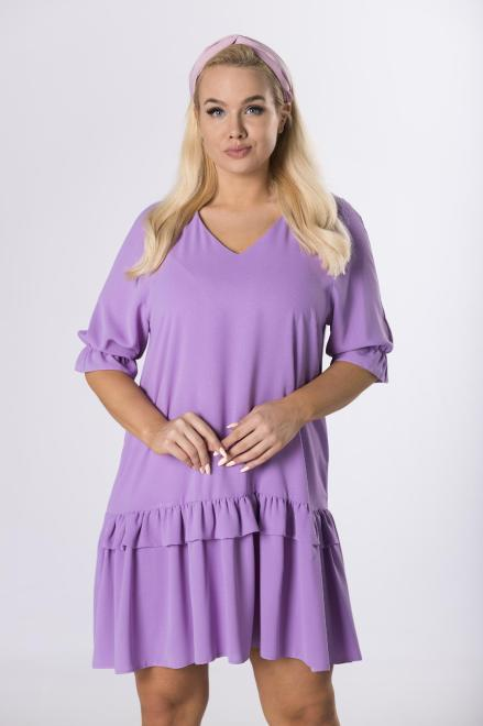 BODOO  trapezowa sukienka z falbanami M80470 Платье Фиолетовый оптом