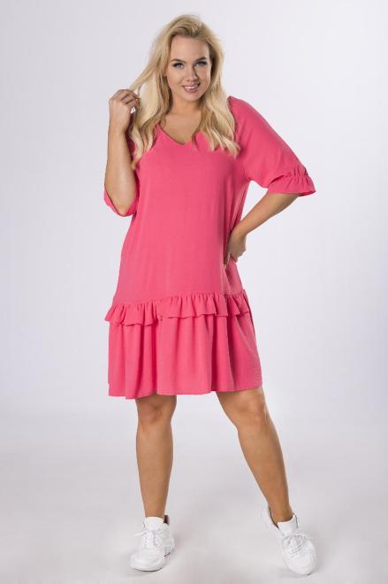 BODOO  trapezowa sukienka z falbanami M80470 Платье Красный оптом