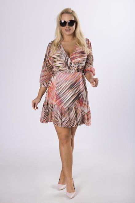 BELLEZZA  kopertowa sukienka z wiązaniem M76619 Платье Multikolor оптом