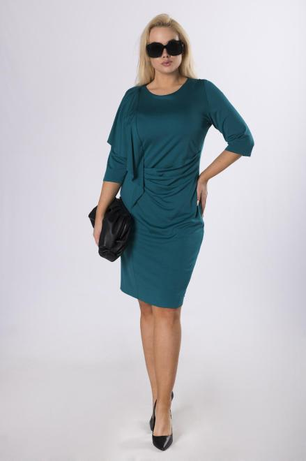 MARTEX  dopasowana sukienka z falbaną na biuście M80532 Платье Зеленый оптом