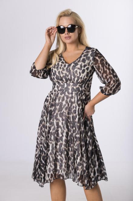 BELLEZZA  rozkloszowana sukienka z dekoltem V M64239 Платье Multikolor оптом