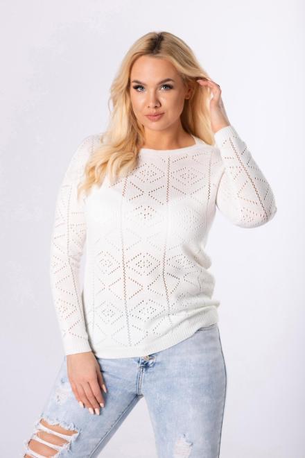 STAY HERE  ażurowy sweter M83682 Свитер Кремовый оптом