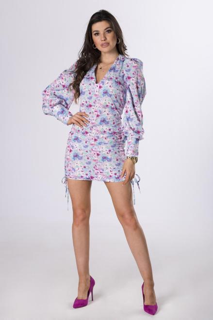 MERSI  dopasowana sukienka ze ściągaczami M83790 Платье Multikolor оптом