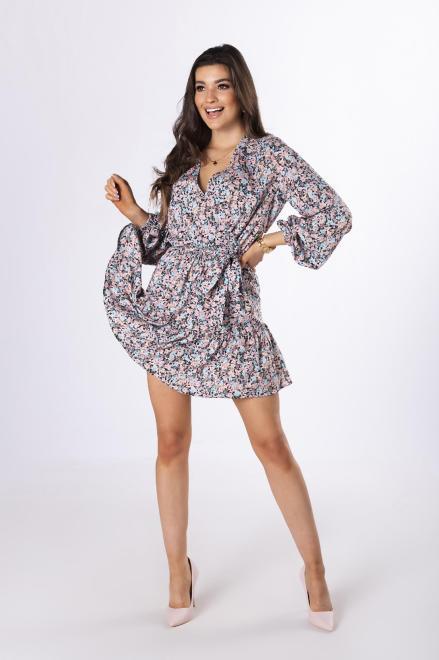 LA PERLA  kopertowa sukienka w kwiaty M83695 Платье Multikolor оптом