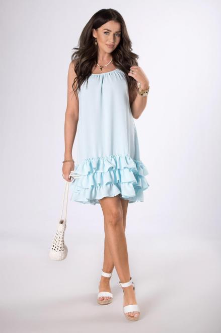 OOH LA LA  trapezowa sukienka na ramiączkach M80524 Платье Голубой оптом