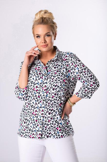 LUIZA  wzorzysta koszula M83776 Рубашка Multikolor оптом