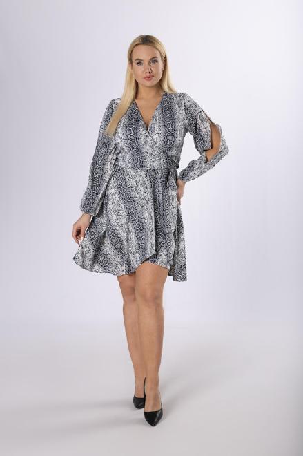 POKER  kopertowa sukienka z rozcięciami na rękawach M83687 Платье Multikolor оптом