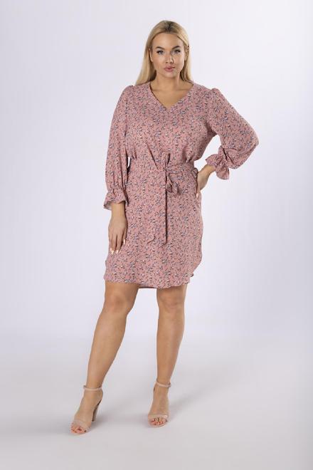 BODOO  casualowa sukienka z wiązaniem  M83854 Платье Розовый оптом