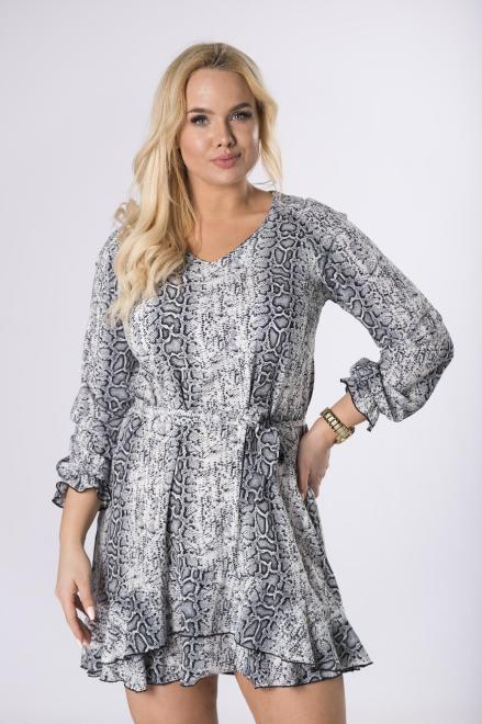 POKER  sukienka w wężowy wzór M83688 Платье Multikolor оптом