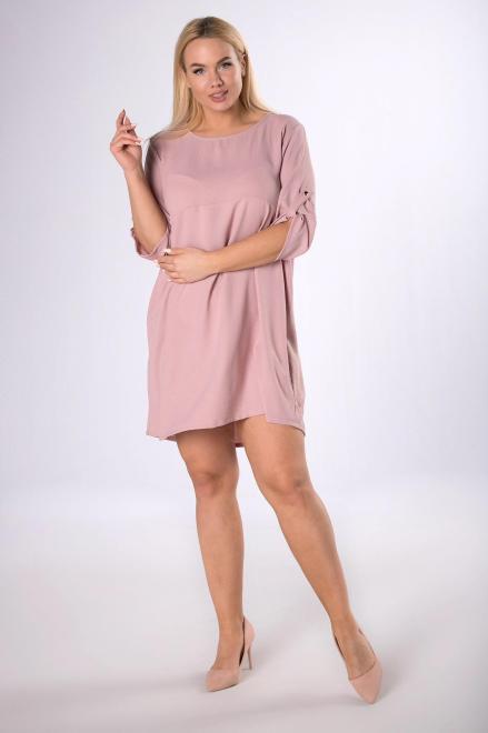 ADIKA  trapezowa sukienka M83794 Платье Розовый оптом