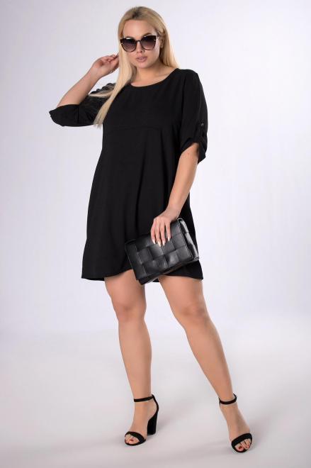 ADIKA  trapezowa sukienka M83794 Платье Черный оптом