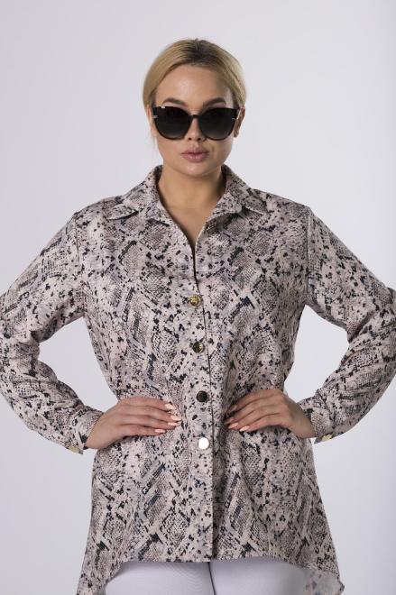 LA TOYA  wzorzysta koszula z wydłużonym tyłem M83849 Рубашка Multikolor оптом