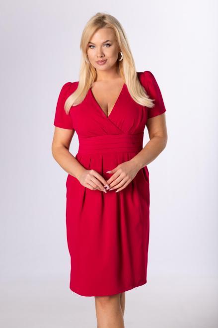 TRYNITE  koktajlowa sukienka z kopertowym dekoltem M83887 Платье Розовый оптом