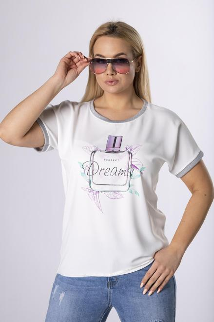 LUIZA  bluzka z ozdobnymi ściągaczami M83908 Блузка Кремовый оптом