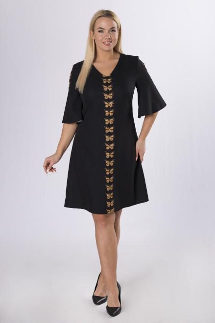 MODA DOROTHY  sukienka z rozszerzanymi rękawami M83815 Платье Черный оптом