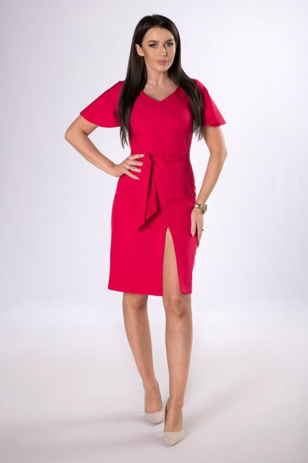 DARTEX  ołowkowa sukienka z rozcięciem M83721 Платье Красный оптом