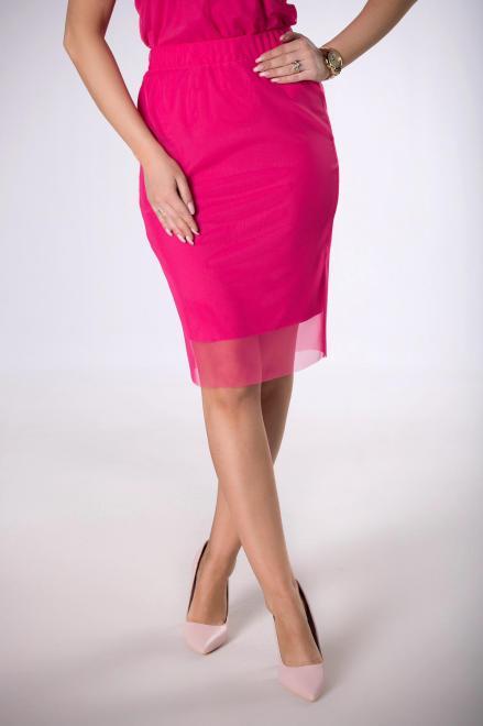 Bien Fashion  ołówkowa spódnica z siateczki M83992 Юбка Розовый оптом
