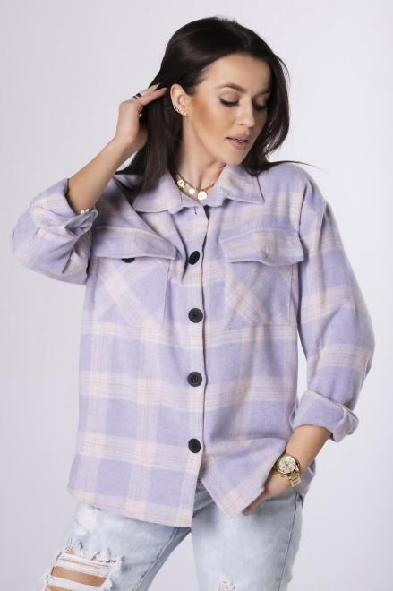 EX MODA  koszula w kratę M84031 Рубашка мультиколор оптом