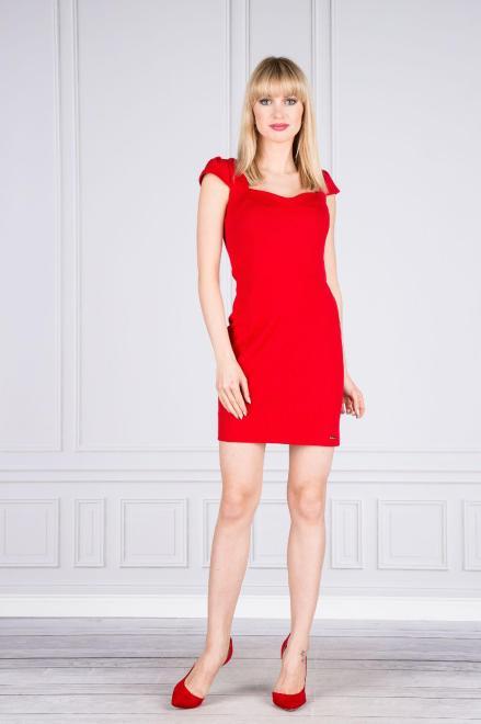 Numoco  Sukienka koktajlowa taliowana M44310 Платье Красный оптом