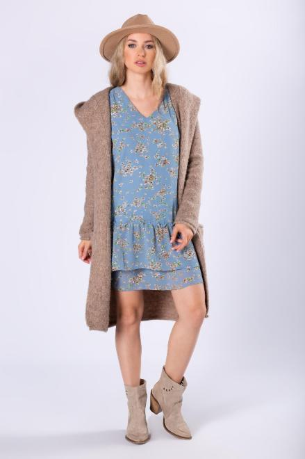 Merribel  szyfonowa sukienka z falbanami M81340 Платье Голубой оптом