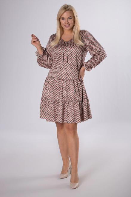 MARCELLO  trapezowa sukienka z satyny M83834 Платье Multikolor оптом