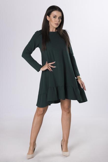 Numoco  sukienka z falbaną M83283 Платье Зеленый оптом