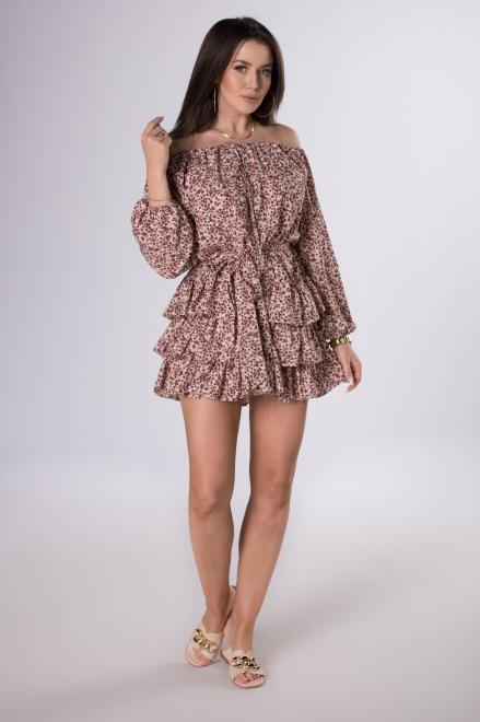 LA PERLA  sukienka z hiszpańskim dekoltem M81348 Платье Multikolor оптом