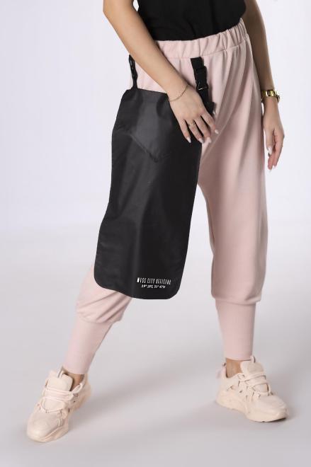 MISS CITY OFFICIAL  dresowe spodnie z obniżonym krokiem M83704 Брюки Розовый оптом