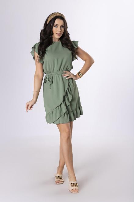 Merribel  sukienka z falbankami M84157 Платье Зеленый оптом