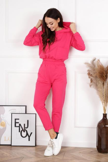 BRANDENBURG  dres z haftem i kieszeniami M84119 Трикотажные брюки Розовый оптом
