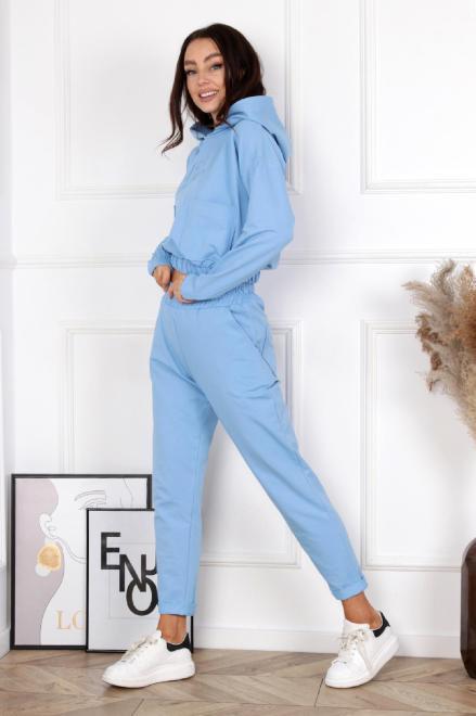 BRANDENBURG  dres z haftem i kieszeniami M84119 Трикотажные брюки Голубой оптом