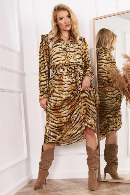 MISS CITY OFFICIAL  sukienka  w zwierzęcy wzór M81526 Платье Multikolor оптом