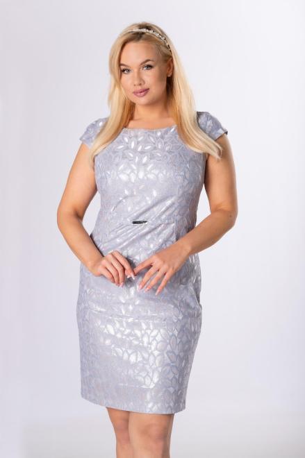 VEGAS  żakardowa sukienka z klamrą M84138 Платье Серый оптом
