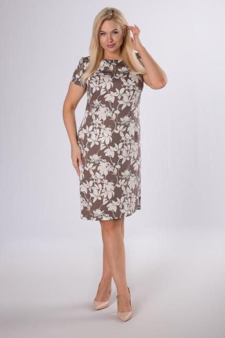 BELLEZZA  ołówkowa sukienka z krótkim rękawem M84165 Платье Коричневый оптом
