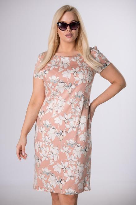 BELLEZZA  ołówkowa sukienka z krótkim rękawem M84165 Платье Оранжевый оптом
