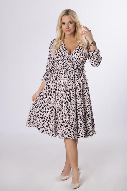 TRYNITE  rozkloszowana sukienka z kopertowym dekoltem M83724 Платье Multikolor оптом