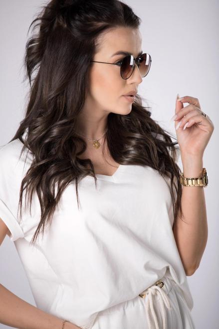 BESQUAR  dresowy komplet t-shirt i szorty M84107 Трикотажный комплект Кремовый оптом