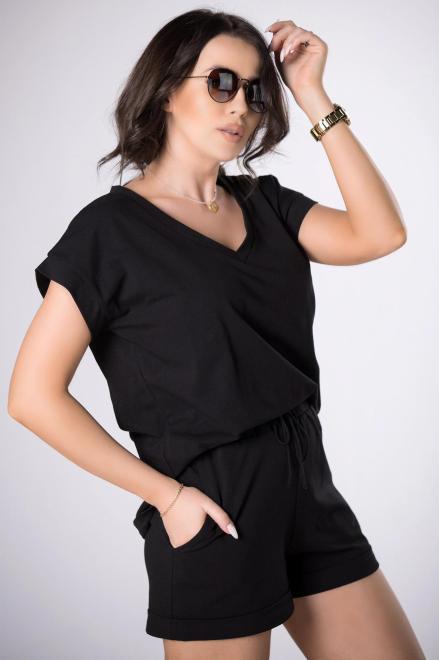 BESQUAR  dresowy komplet t-shirt i szorty M84108 Трикотажный комплект Черный оптом