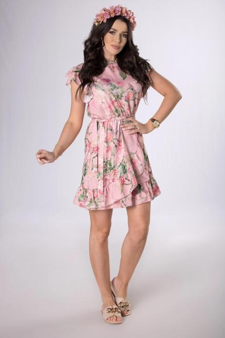 Merribel  sukienka z kopertowym wykończeniem M84159 Платье Розовый оптом