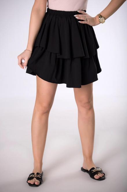 BESQUAR  spódnica mini z falbanami M84105 Юбка Черный оптом