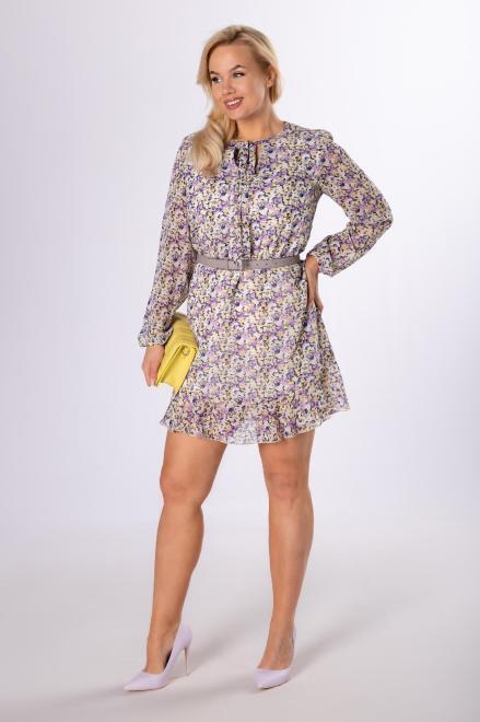 WOX  sukienka w kwiaty z wiązaniem M83989 Платье Multikolor оптом
