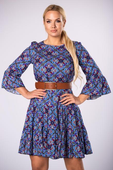 BRENDA  wzorzysta sukienka o trapezowym kroju  M81031 Платье Multikolor оптом