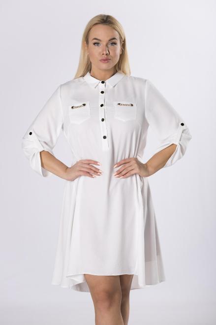 TRYNITE  koszulowa sukienka z wiązaniem M83838 Платье Белый оптом
