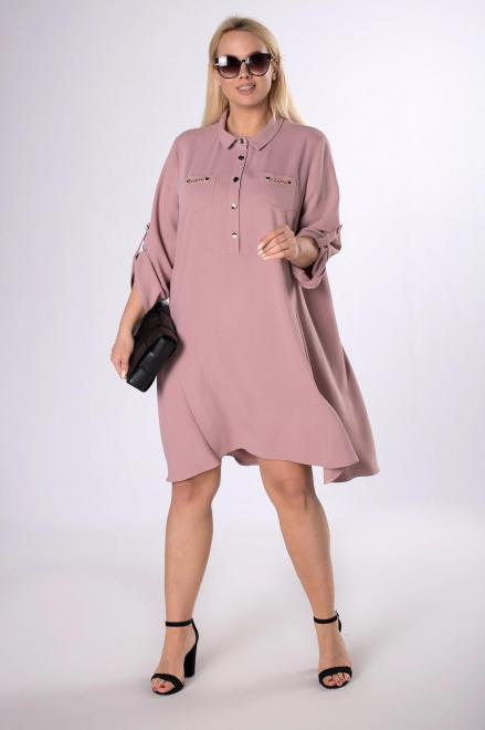 TRYNITE  koszulowa sukienka z wiązaniem M83838 Платье Розовый оптом